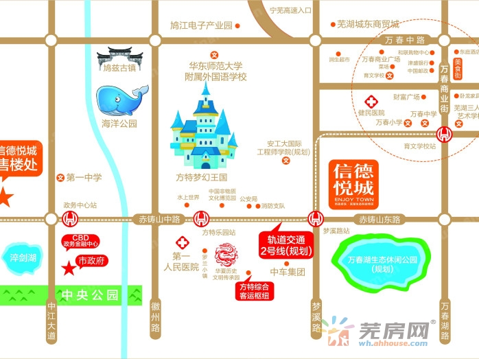 信德悦城交通图