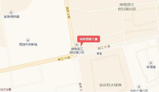 绿地紫峰大厦交通图