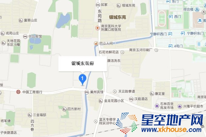 银城东岳府交通图