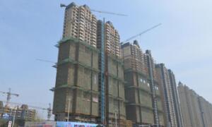 恒大御景湾4月工程进度:13#/14#楼底漆施工