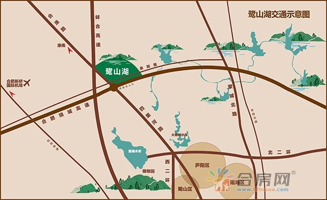 鹭山湖·铜雀台交通图