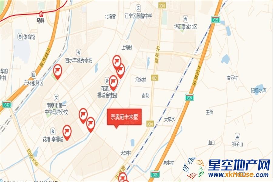 京奥港未来墅交通图