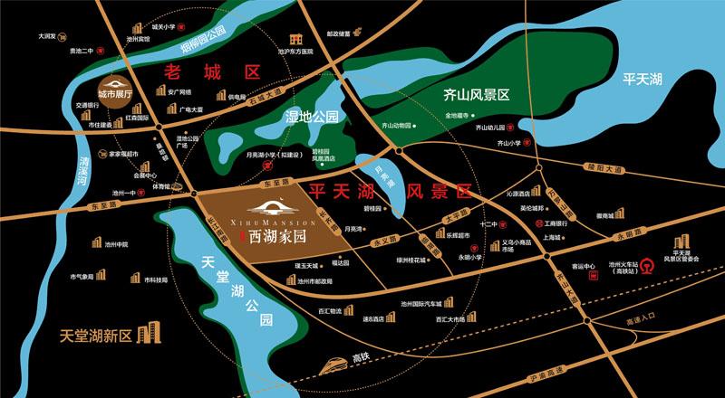 太平鸟西湖家园交通图