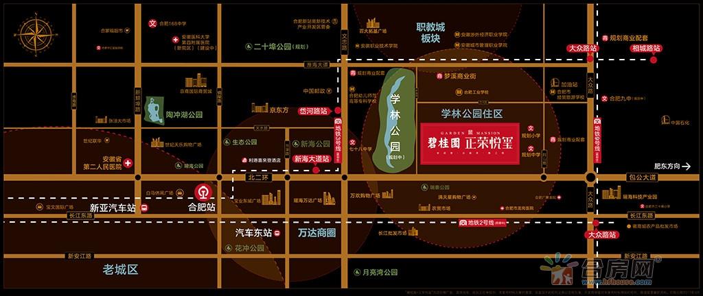 碧桂园正荣悦玺交通图