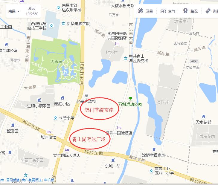 文一锦门香溪南岸交通图