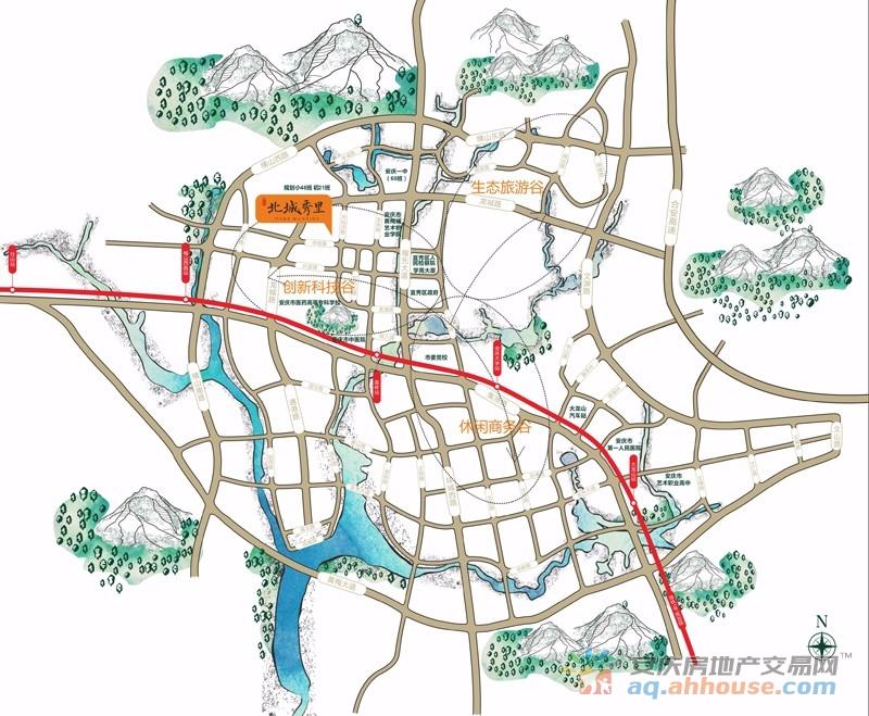 辉隆·北城秀里交通图
