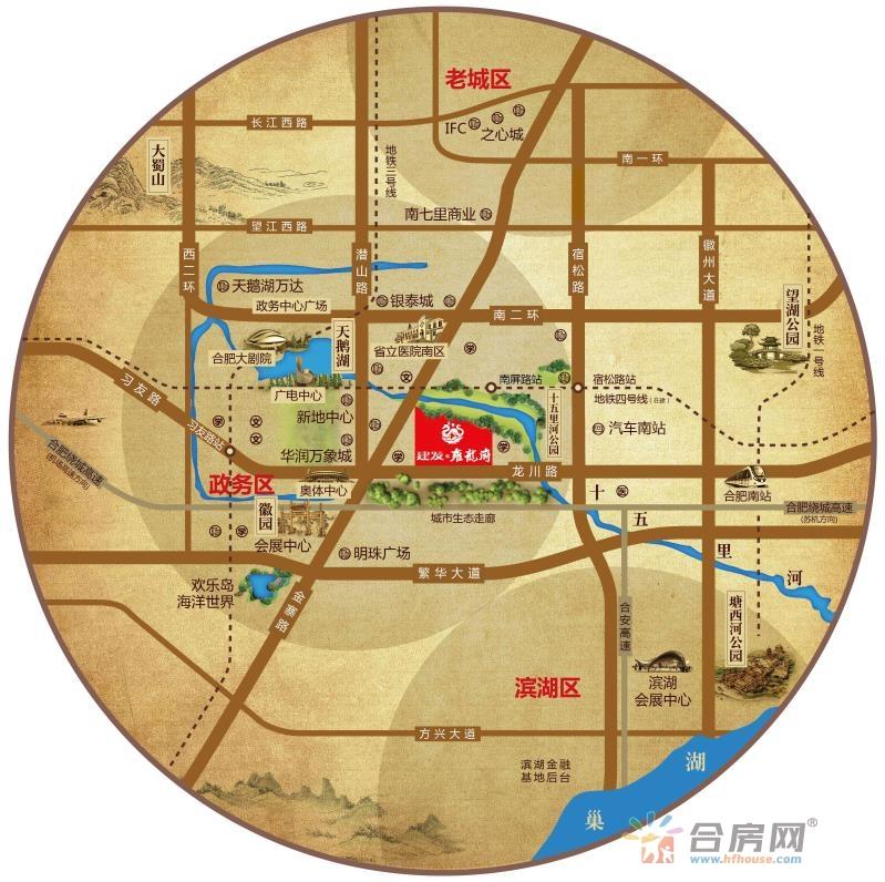 建发·雍龙府交通图