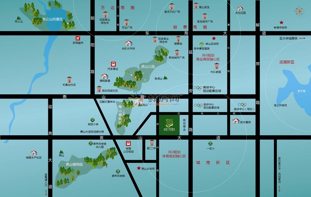 宝业学府绿苑交通图