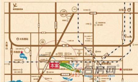 高铁都市花园交通图