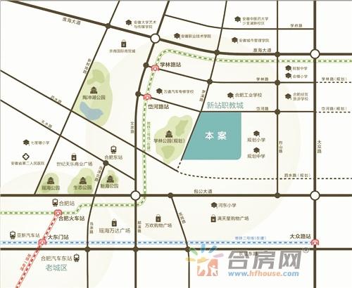 招商·公园1872交通图