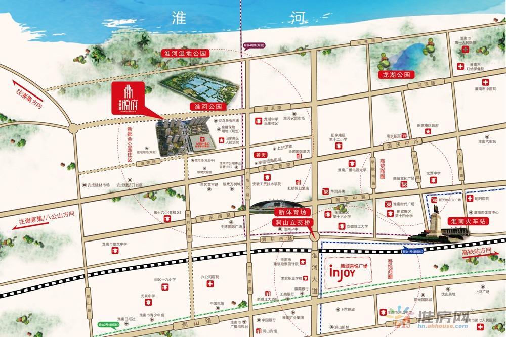 新城·悦府交通图