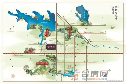 城建琥珀蜀熙府交通图