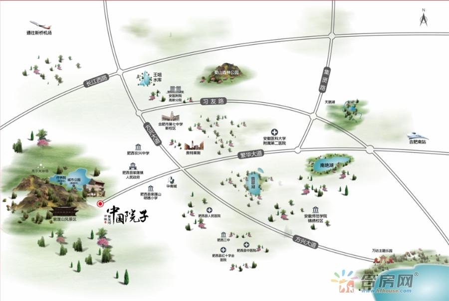 万振中国院子交通图