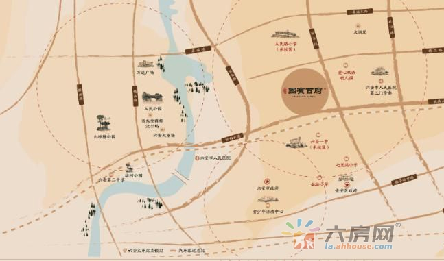 中梁国宾首府交通图