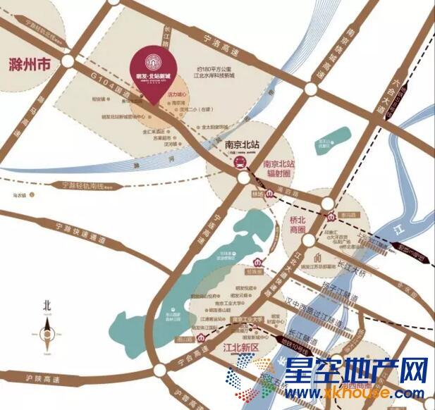 明发北站新城交通图