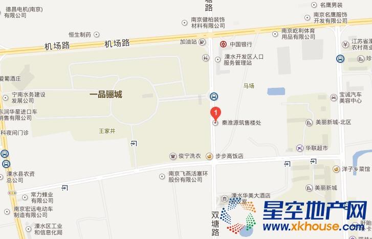 秦淮源筑交通图