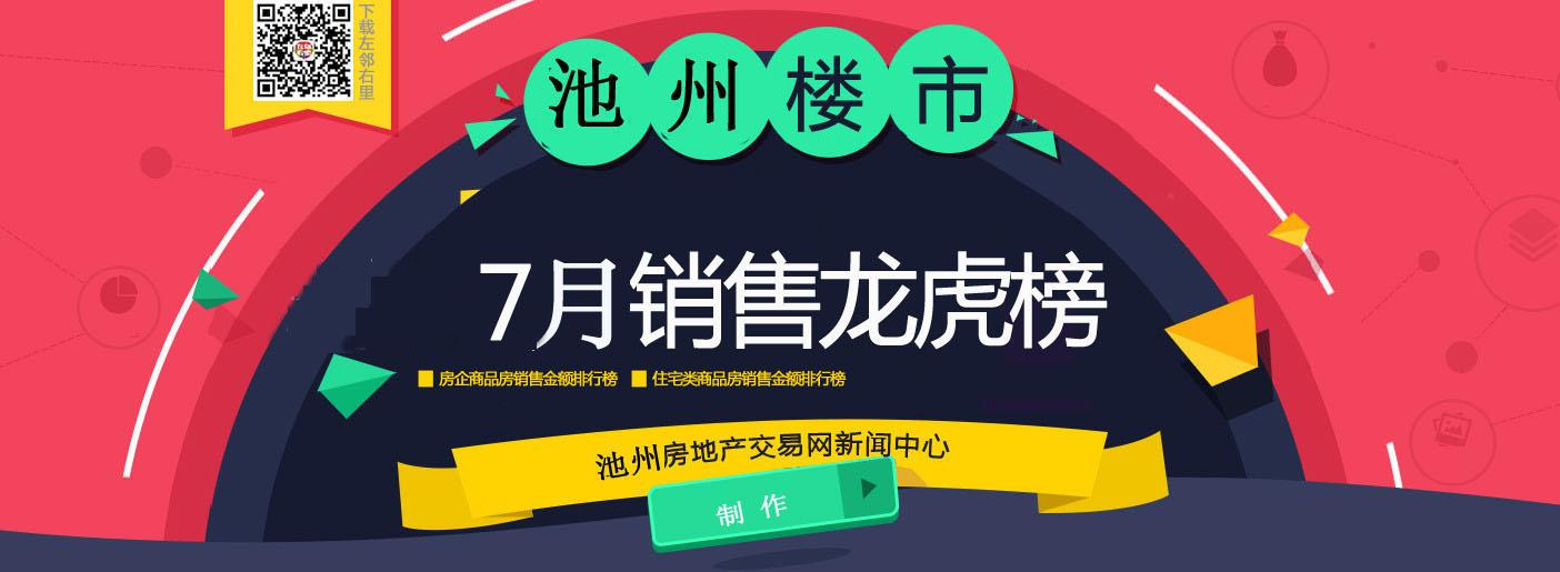 7月池州楼市排行榜:绿洲桂花城夺冠