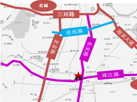 珍宝岛·熙悦府交通图