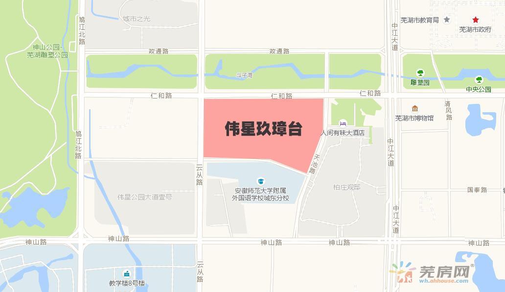 伟星玖璋台交通图