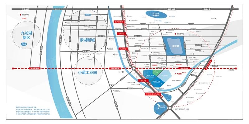 鸿海万科·天空之城交通图