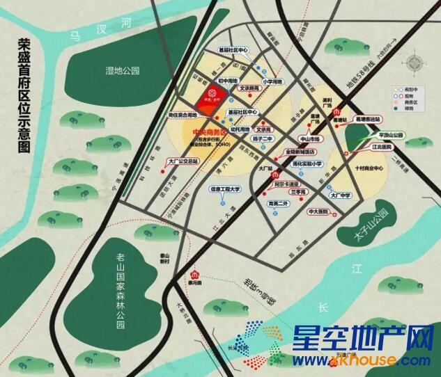 荣盛首府交通图
