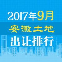 9月安徽土地市场成交33宗地 共揽金约129.03亿元