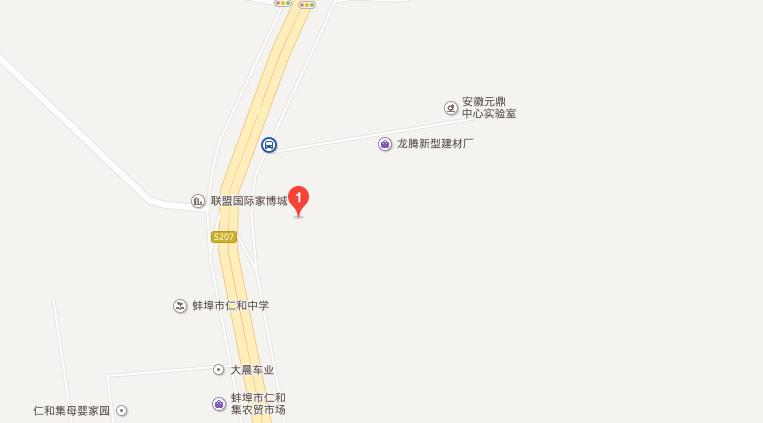 蚌埠电子商务产业园交通图