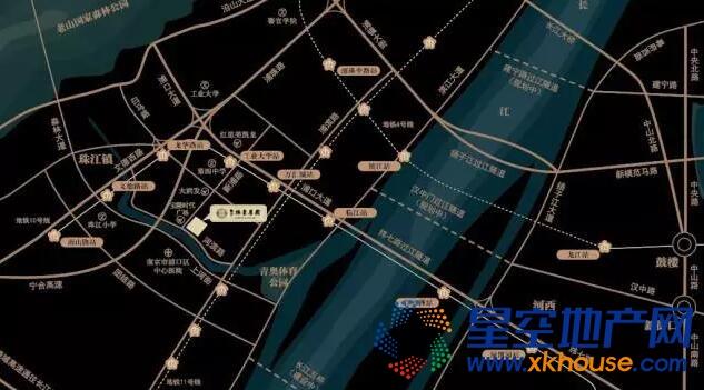 通宇林景尊园交通图
