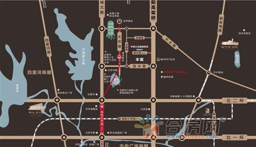 旭辉玖著交通图