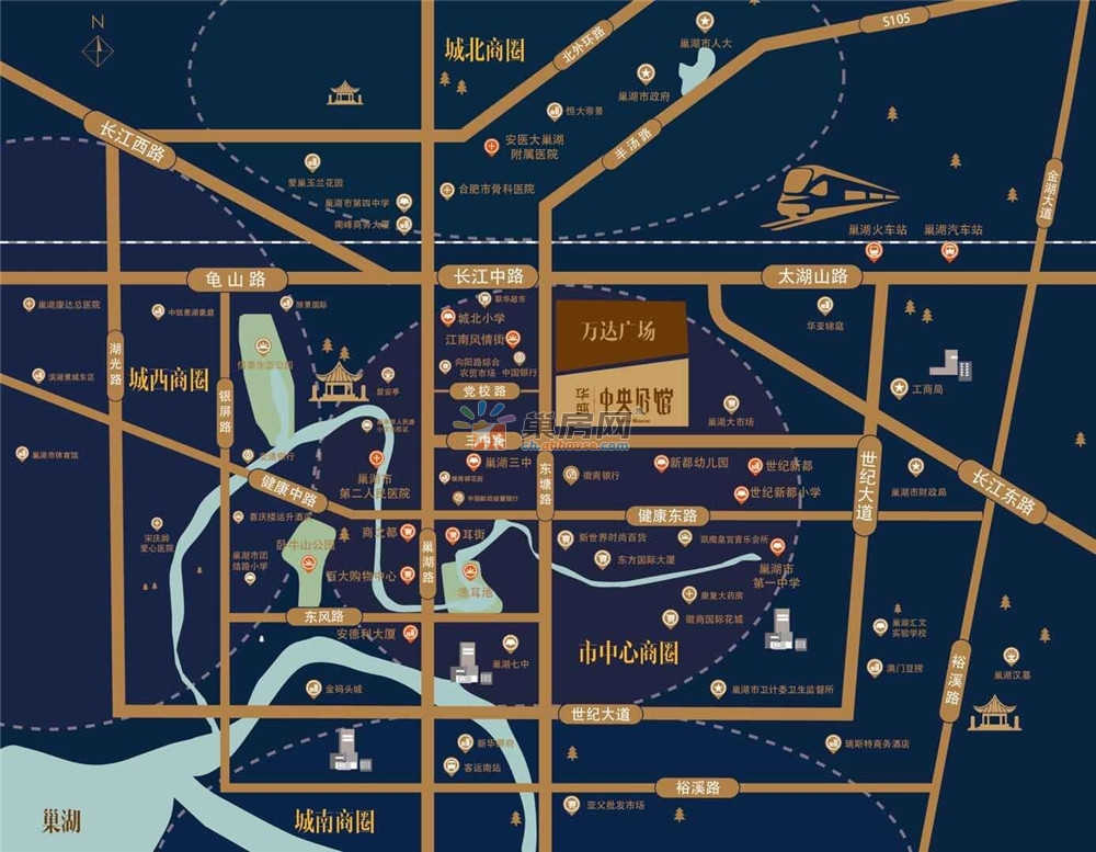 华盛·中央公馆交通图