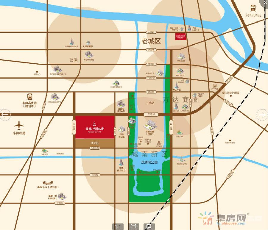 绿城·明月双清交通图