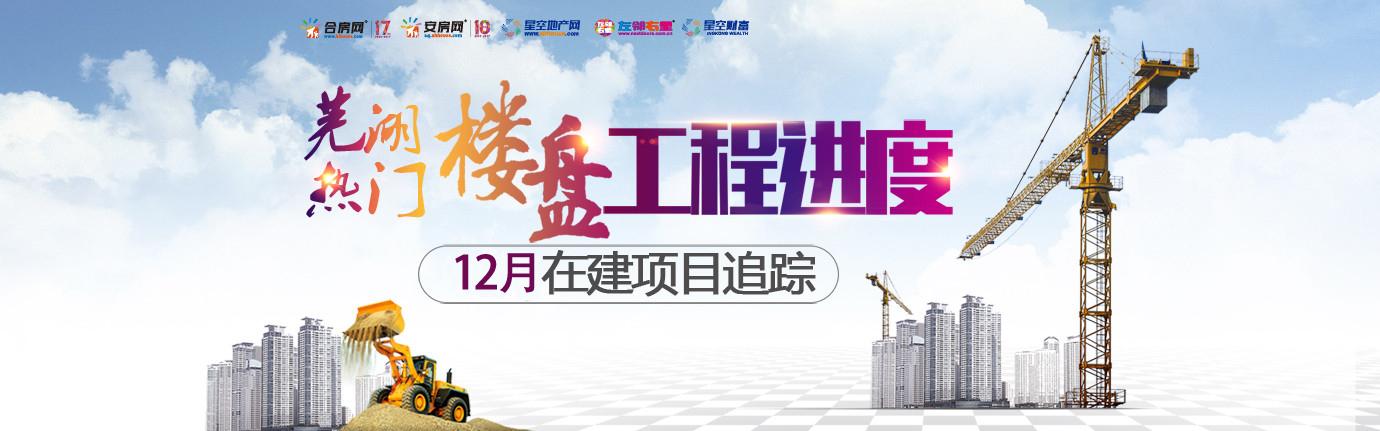 2017年12月芜湖市区热门楼盘工程进度汇总