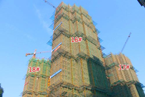 万锦·缇香郡12月工程进度:18#封顶在即