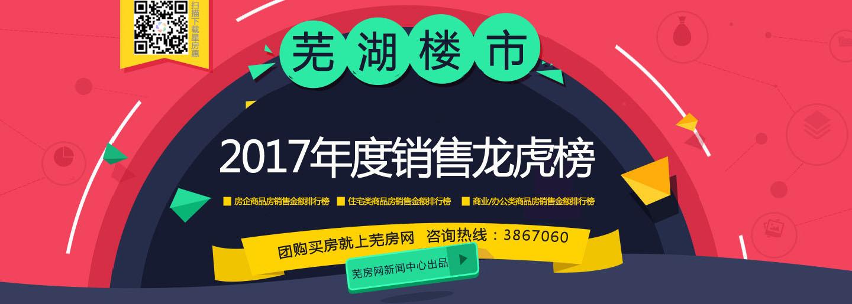 2017芜湖房地产销售龙虎榜 谁是最赚钱房企