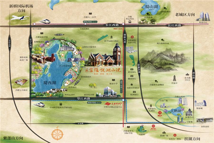 悦湖山院交通图