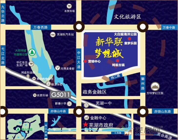 新华联铂悦府交通图
