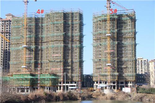 卓瑞北宸龙湖湾2月工程进度:3#楼建至3层