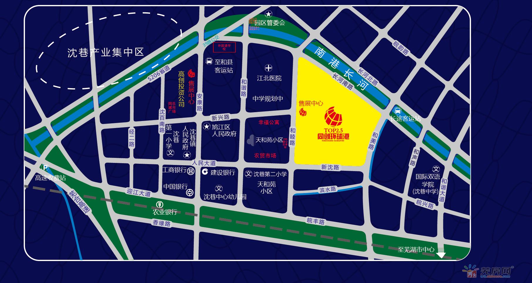 同创环球港交通图