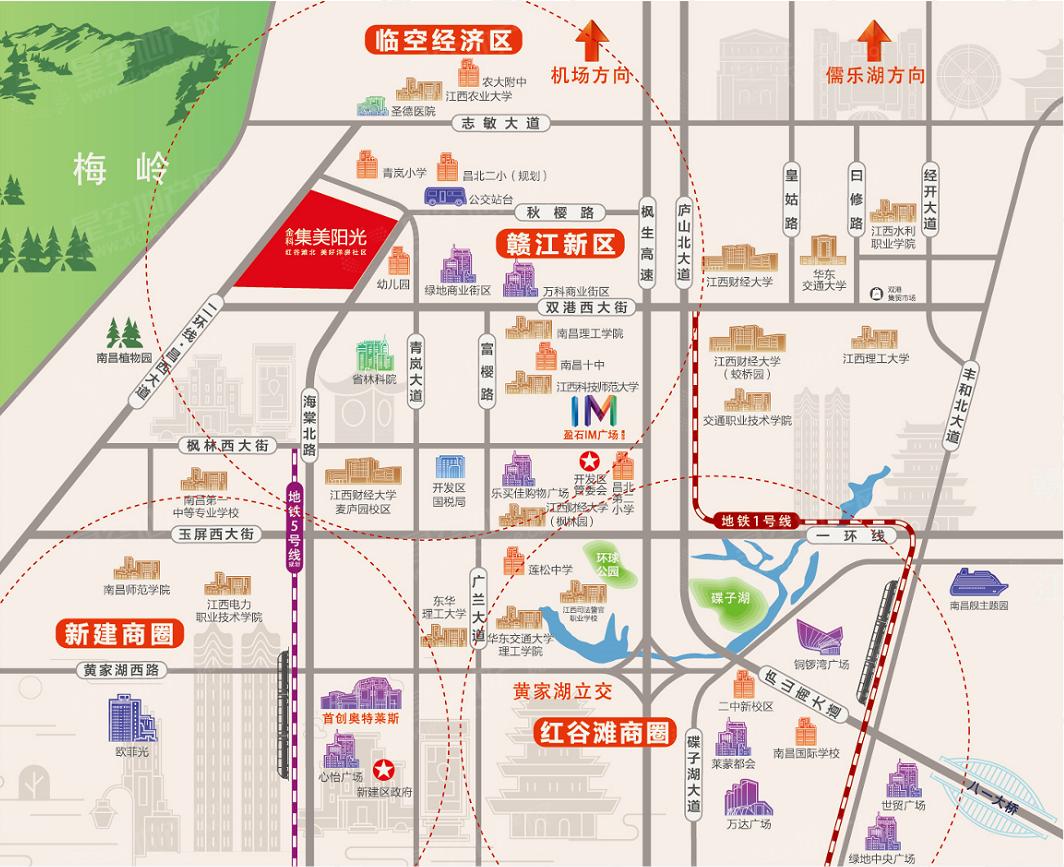 金科·集美阳光交通图