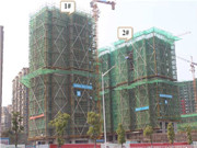 逸龙新河湾 3月工程进度 项目主体建设中