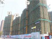 绿地四期 3月工程进度 B区6栋楼正在施工