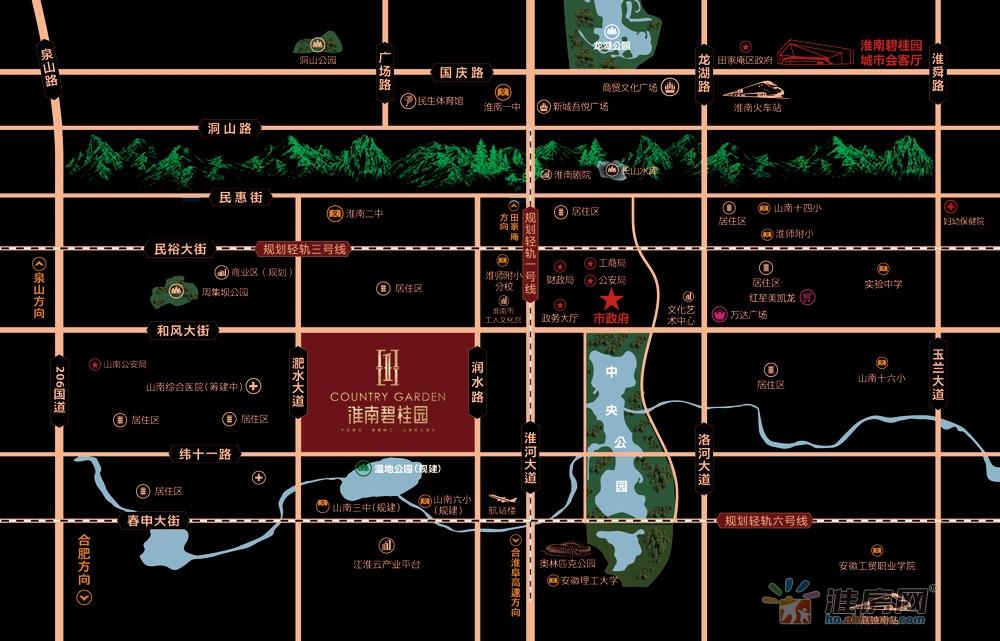 淮南碧桂园交通图
