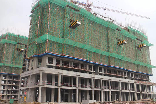 淮矿东方蓝海3月工程进度 2#楼即将封顶