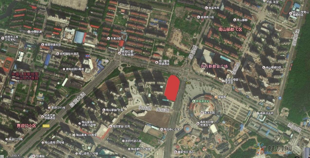 探地 蚌埠花鼓灯嘉年华对面11.79亩商业商务用地