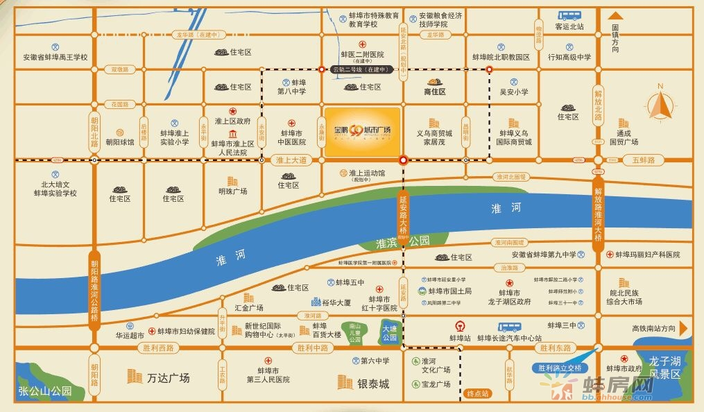 金鹏99城市广场交通图