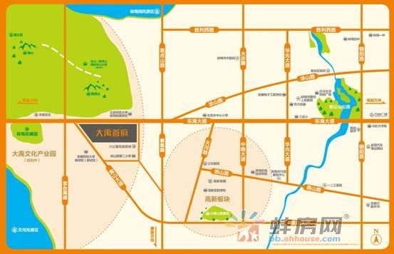 大禹首府交通图