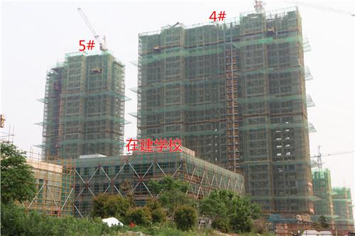 卓瑞北宸龙湖湾4月工程进度:4#楼已建至28层