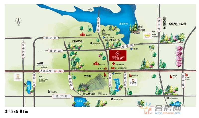 幸福金色湖畔(商业)交通图