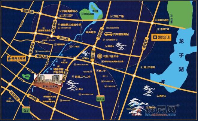 绿地迎宾城交通图