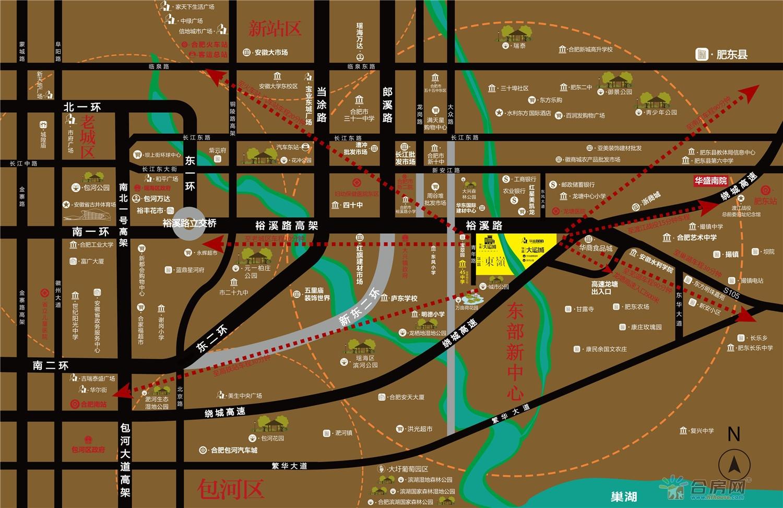 华盛大运城·东嶺交通图
